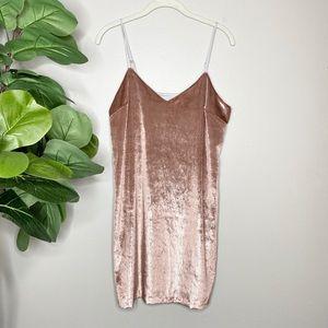 Anthropologie Sam & Lavi Crushed Velvet Mini Dress